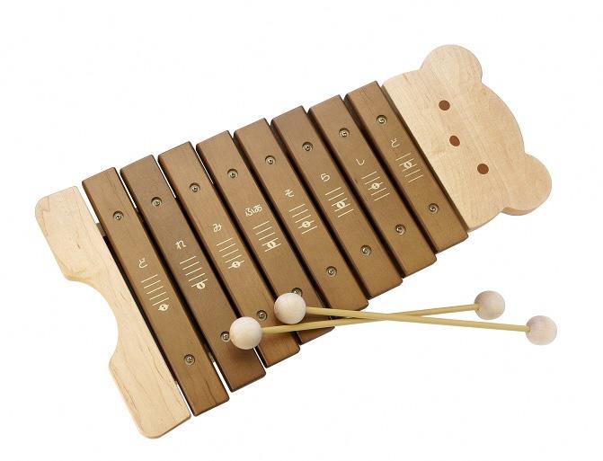 人気の定番 純国産と安全性にこだわった1オクターブの木琴です ふるさと納税 9061 NEW ARRIVAL カワイくまのもっきん