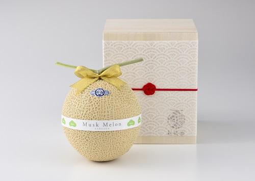 【ふるさと納税】最高級名人の静岡温室マスクメロン桐箱1個入