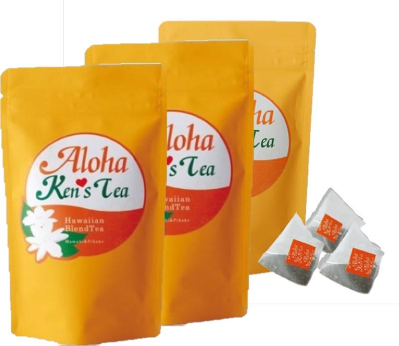 【ふるさと納税】ハワイアンブレンドティー 『Aloha Ken's Tea』ティーバッグ3袋セット(1袋10包入)〔紅茶·掛川·お茶·ティーバッグ·ハワイ〕