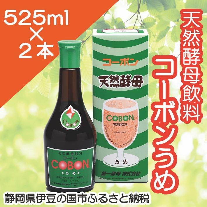 【ふるさと納税】020-009 天然酵母飲料「コーボンうめ」(525ml×2本)