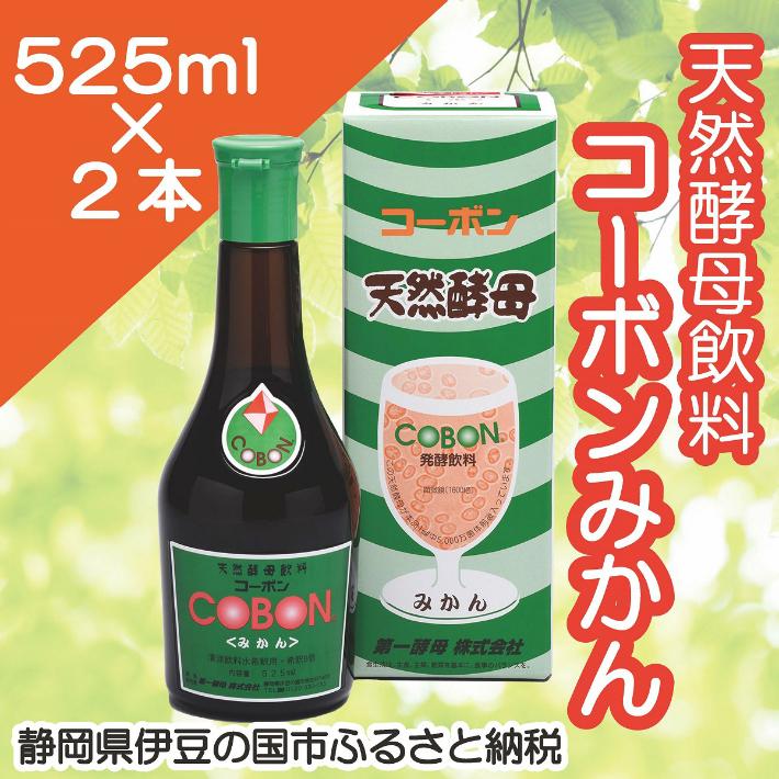 【ふるさと納税】020-011 天然酵母飲料「コーボンみかん」(525ml×2本)