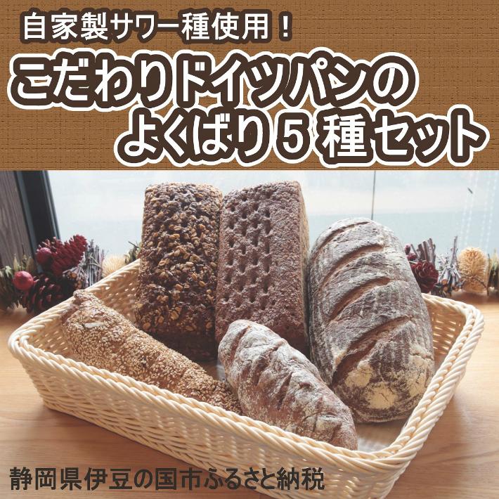 【ふるさと納税】パン セット ハード 自家製サワー種使用のこだわりドイツパンのよくばり5種セット 010-040