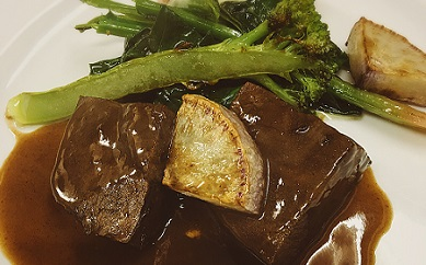 【ふるさと納税】単品セレクト 当店人気の煮込料理「牛ホホ肉赤ワイン煮」
