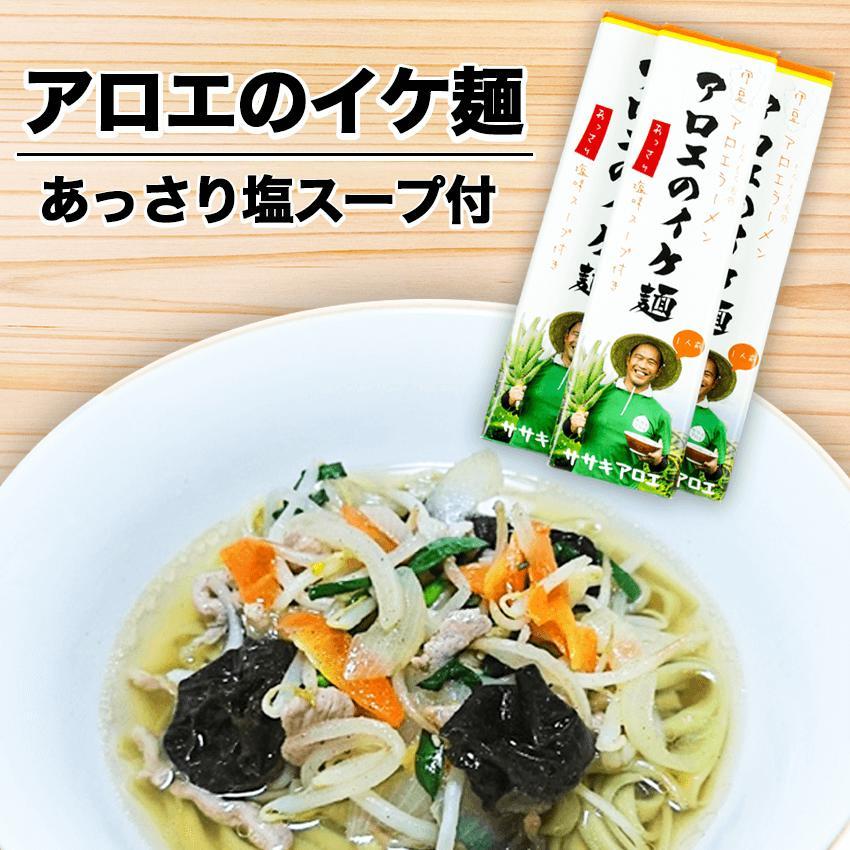 【ふるさと納税】アロエのイケ麺3食セット