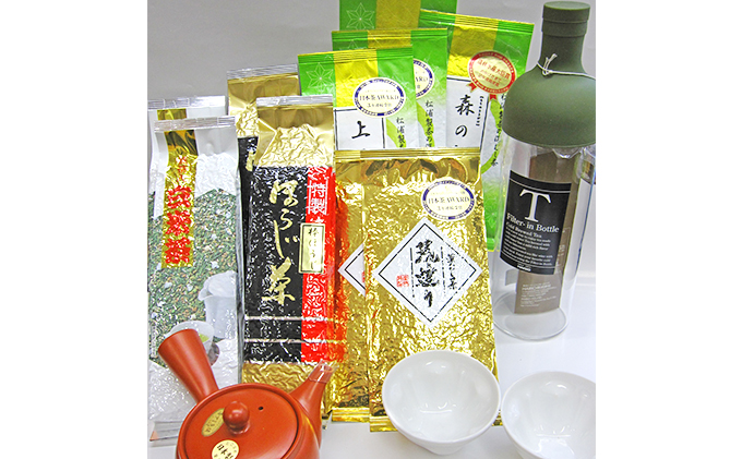 【ふるさと納税】2年連続農林水産大臣賞受賞工場のお茶と茶器セットB 【飲料類/お茶類】