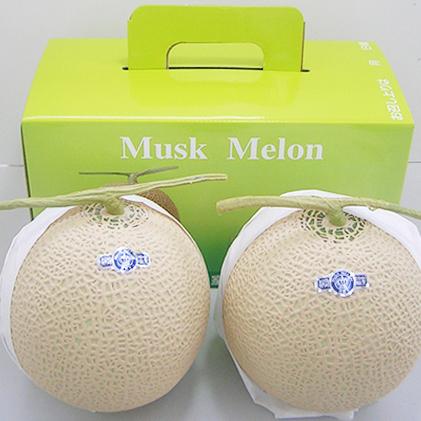 【ふるさと納税】クラウンメロン(白クラス2玉入) 【果物類・フルーツ・くだもの・マスクメロン・静岡県産】
