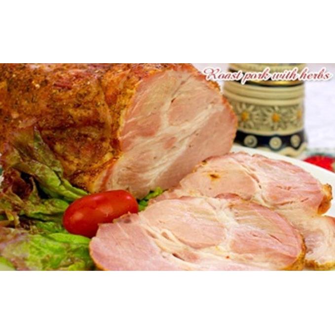 【ふるさと納税】香草のローストポーク(肩ロース肉1本丸ごと使用)とソーセージセット 【お肉・豚肉・加工品・燻製・詰め合わせ】