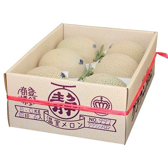 【ふるさと納税】クラウンメロン白級 中玉6玉入(6か月連続お届け) 【定期便・果物類・メロン青肉】