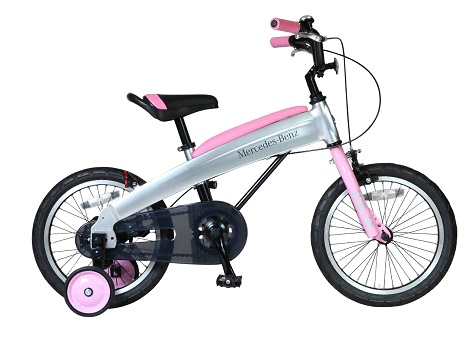 ふるさと納税 メルセデス 希望者のみラッピング無料 ベンツ16型子供用自転車 MB-16 カラー:ライトピンク 販売期間 限定のお得なタイムセール