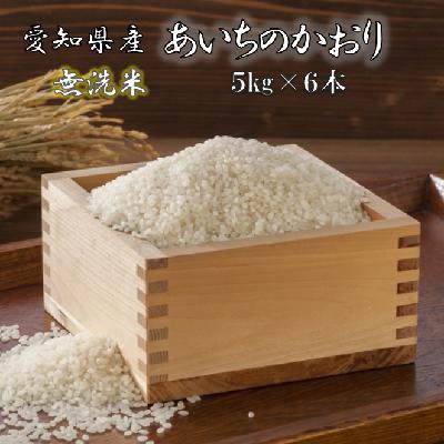 【ふるさと納税】《2019年産》愛知県産あいちのかおり(特別栽培米&無洗米)5kg×6本