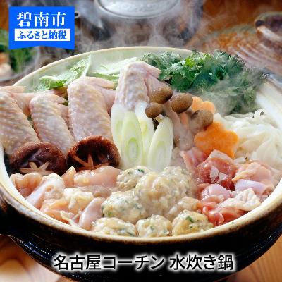 【ふるさと納税】元祖白だし濃厚スープ 名古屋コーチン水炊き鍋(3~4人前) H001-021