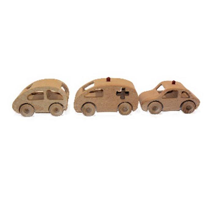 愛知県日進市 ふるさと納税 手づくり木のおもちゃ ミニカー3種 工芸品 玩具 オリジナル おもちゃ ミニカー ハイクオリティ