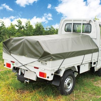 最新 高さを抑えたコンパクト設計でシートの開閉もし易く 雨も溜まりにくい軽トラック用幌です ふるさと納税 軽トラ用おてがる幌シート ラクホロミニ 1042628 標準シート ついに入荷