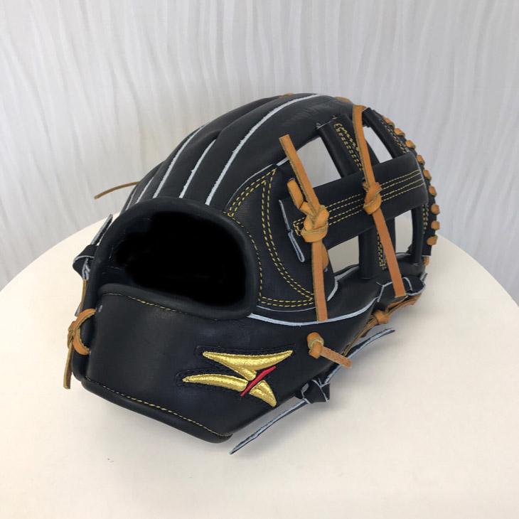 【ふるさと納税】SAEKI 野球グローブ【硬式・ショート用】【ブラック】【親指・バンド部一体型】