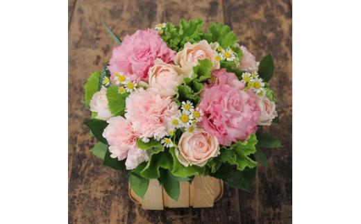【ふるさと納税】お花ちゃん生花店 記念日を彩る季節のフラワーアレンジメント Sサイズ