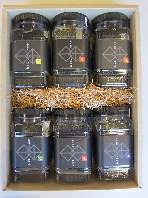【ふるさと納税】 日の出 一番摘み桑名海苔5種類の味 6個入(角ペット)と1袋(一帖10枚入り)