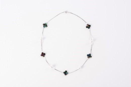 ふるさと納税 O-48アコヤ真珠 ブランド品 ネックレス アワビ貝 新品