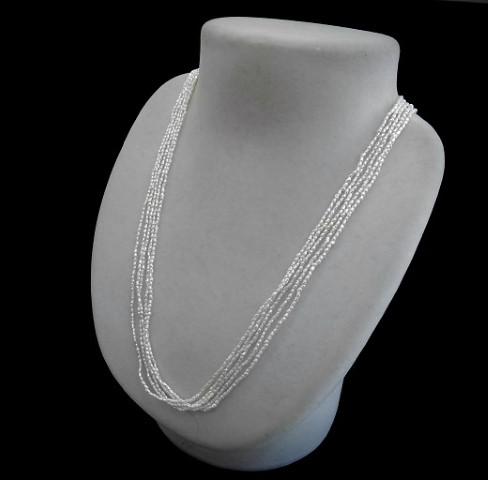 【ふるさと納税】Q-20けし5連ネックレス(国産あこや本真珠)