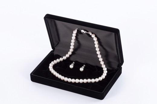 【ふるさと納税】Q-26あこや真珠ネックレス・ピアス又はイヤリングセット