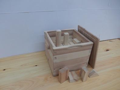 【ふるさと納税】熊野杉「箱型」積み木