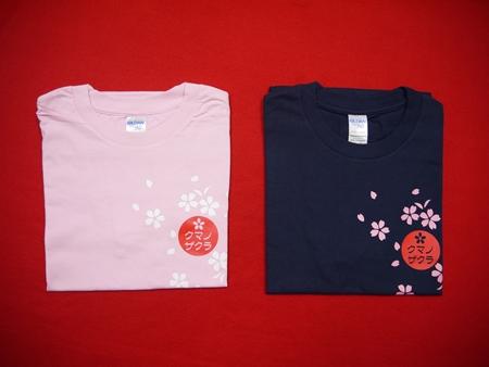 【ふるさと納税】「熊野桜」100年ぶりの新種をモチーフにしました!【クマノザクラTシャツ:ピンク・ネイビー各1枚】