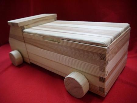 【ふるさと納税】初節句のお祝いに最適♪知育玩具【熊野杉のトラック型の積み木58P】