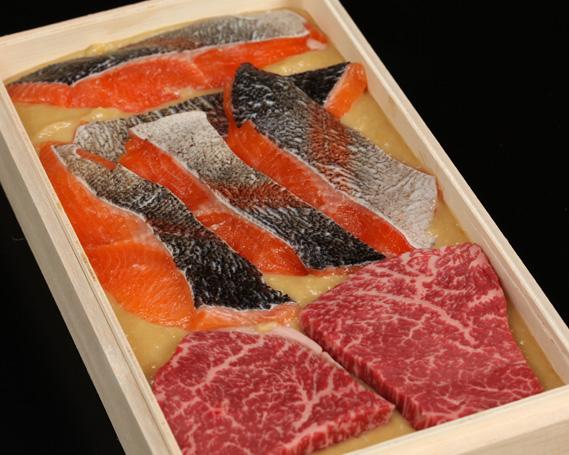 【ふるさと納税】No.138 琵琶マスと近江牛西京味噌漬けセット