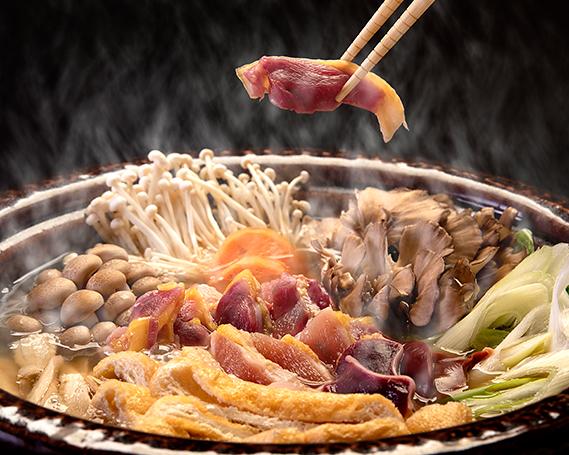 【ふるさと納税】No.214 【かしわの川中】超新鮮&美味!地鶏とり鍋セット~近江しゃも雌雄食べ比べ