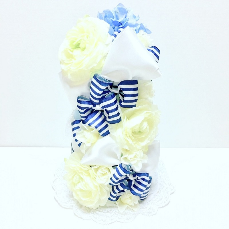 RK-007【ふるさと納税】【限定デザイン】おむつケーキ(BLUE)