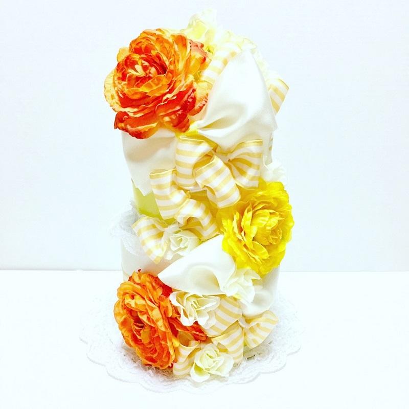 RK-009【ふるさと納税】【限定デザイン】おむつケーキ(YELLOW)