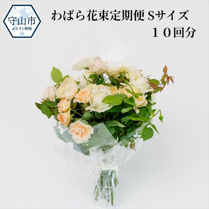 【ふるさと納税】わばら花束定期便 Sサイズ 10回分【滋賀県守山市】