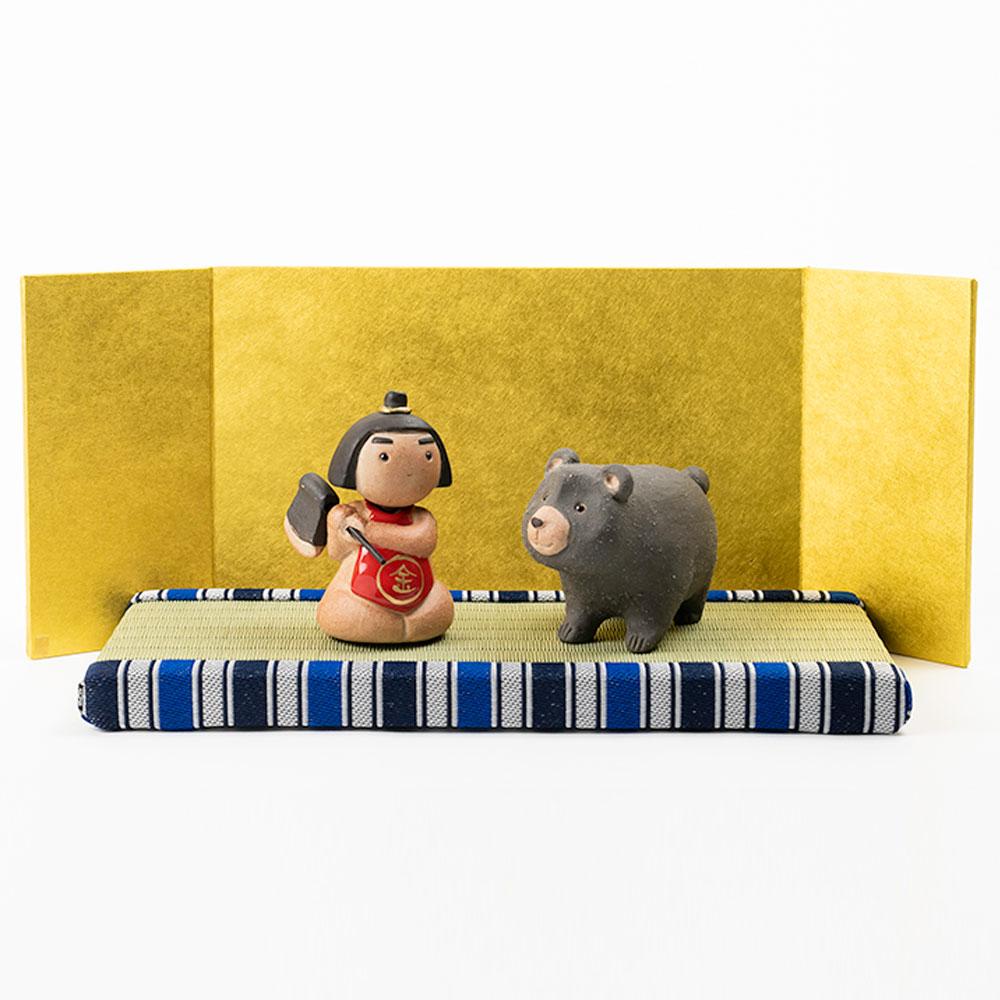 【ふるさと納税】信楽焼 五月人形 いわい 金太郎-KINTARO-五月人形セット iwai-k04