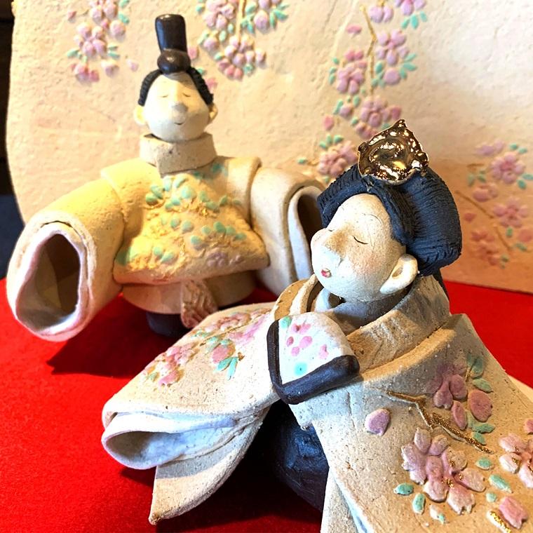 【ふるさと納税】桜屏風ひな人形