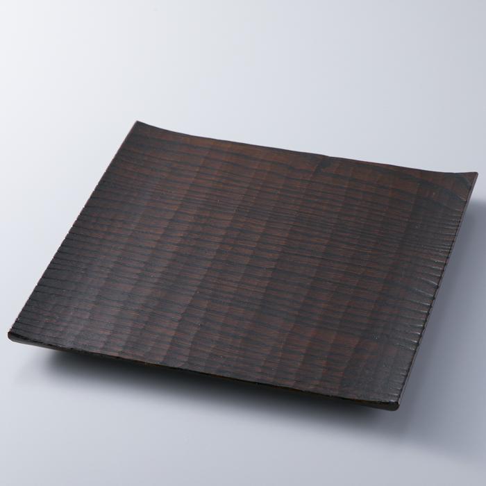 【ふるさと納税】【L-581】木用美工房 栗拭漆七寸皿 [高島屋選定品]