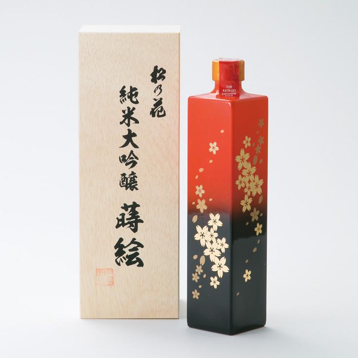 【ふるさと納税】【T-702】川島酒造 松の花純米大吟醸蒔絵ボトル, 店舗ディスプレイのエムズプレイス 26120623