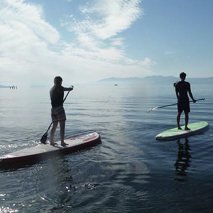 【ふるさと納税】琵琶湖SUP(スタンドアップパドル)体験 【体験チケット】
