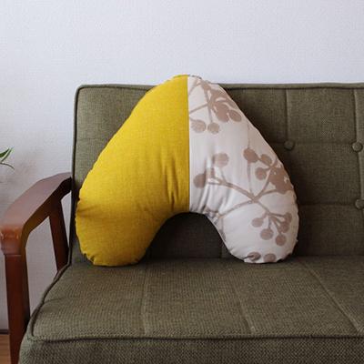 かわいい形のお座布団 うたた寝に 読書のおともに 背当てにと 使い方いろいろ ふるさと納税 直送商品 洛中高岡屋 10%OFF すぐりBe菜の花 うたね うたたねクッション Utane こだわり設計のかわいいクッション