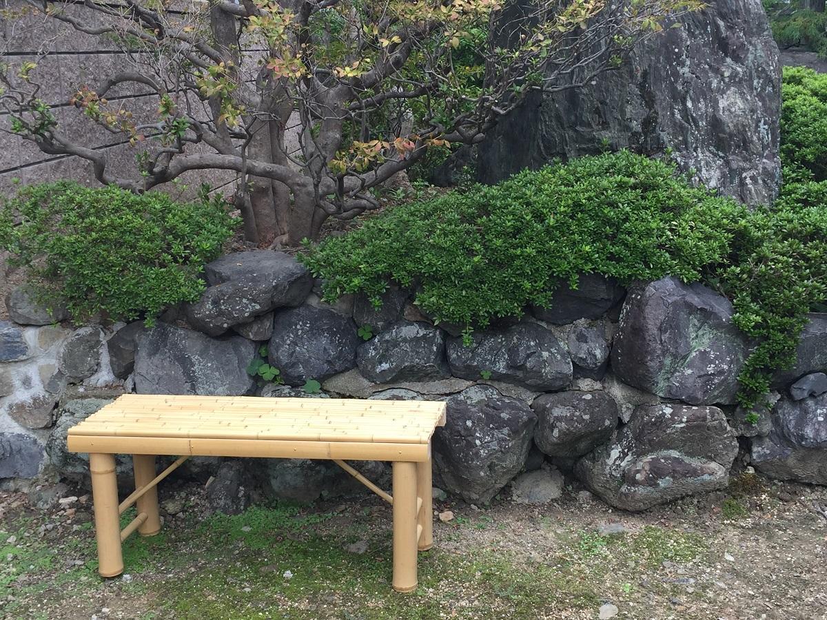 【ふるさと納税】京竹工芸の竹製ベンチでゆっくりくつろぎの時間 竹製ベンチ・床几(しょうぎ)・スツール