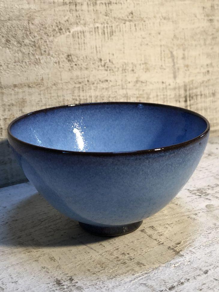 【ふるさと納税】龍善ブルー御飯茶碗 大サイズ