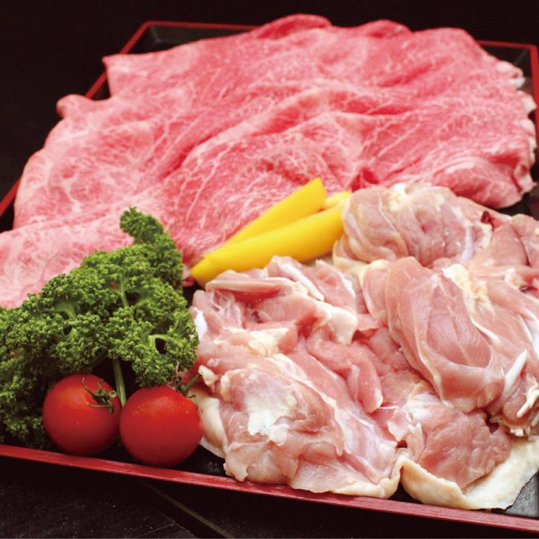 【ふるさと納税】京丹波特選姫牛・地鶏すき焼きセット