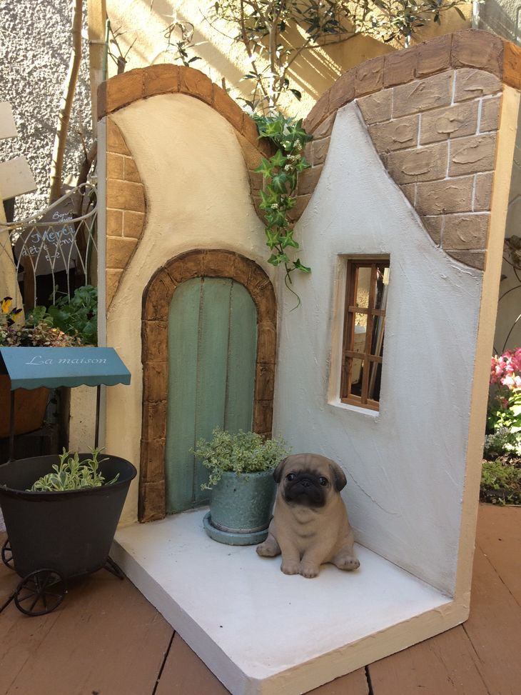 【ふるさと納税】<Moon Rabbit>まるでお庭のようなコーナー型飾り棚≪雑貨 庭 ガーデニング 屋外 オブジェ 飾り棚 花台 インテリア≫