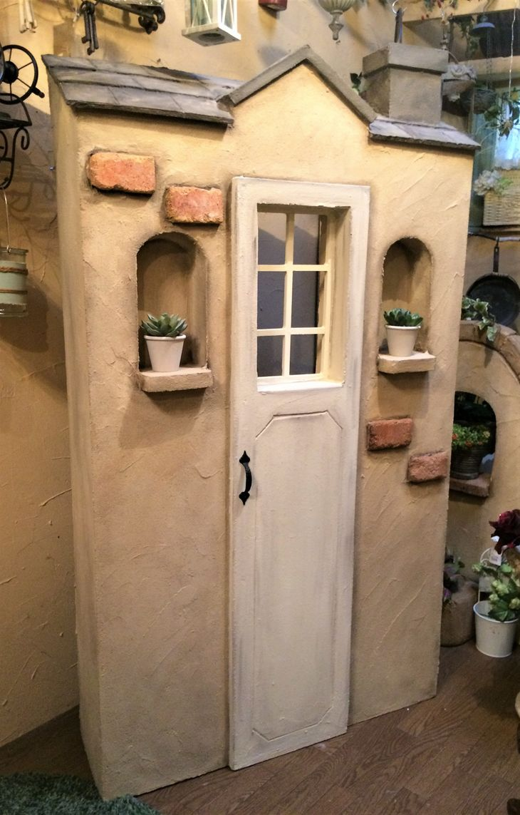 【ふるさと納税】<Moon Rabbit>お庭道具が隠せる小屋型のシャビー塀≪エクステリア 庭 ガーデニング 屋外 ガーデンファニチャー≫