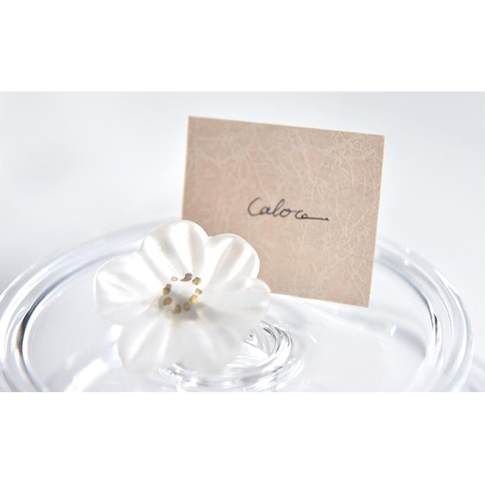 【ふるさと納税】Flower ガラスブローチ 白 【工芸品・ファッション小物・ブローチ・アクセサリー】