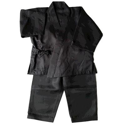 【ふるさと納税】【丹後シルク】 ベビー作務衣(黒パジャマ) 1歳~2歳【1005265】