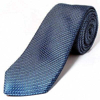 【ふるさと納税】KUSKA Fresco Tie【サックスブルー】世界でも稀な手織りネクタイ【1080335】