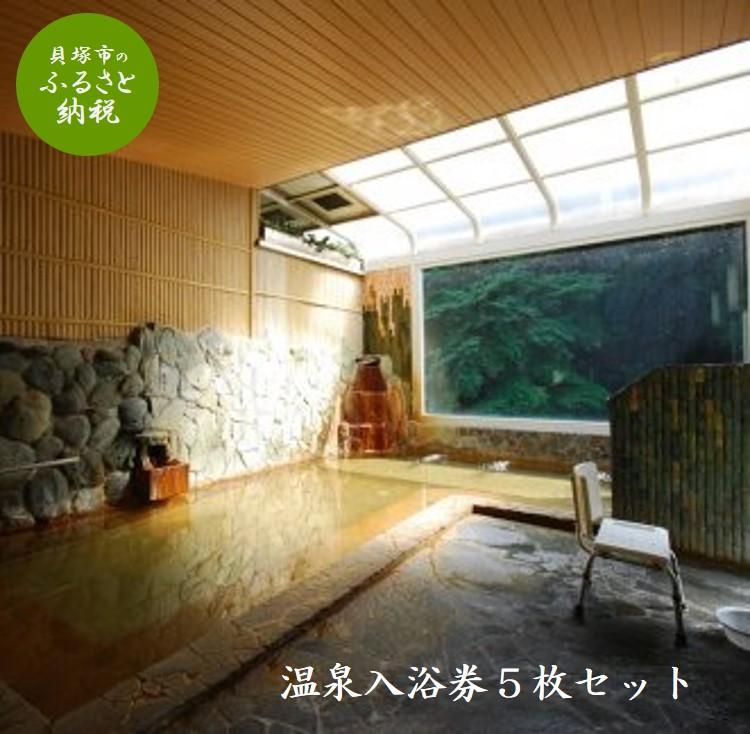 [ふるさと納税]B0038.【奥水間温泉】入浴券5枚セット