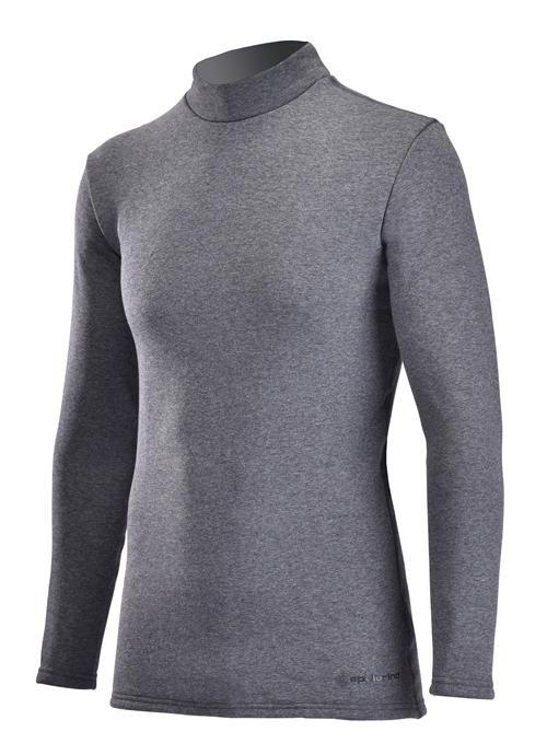 【ふるさと納税】男性用 防寒用 ハイネックインナーシャツ(Mink) グレー サイズM、L、XL スポーツ・アウトドアに