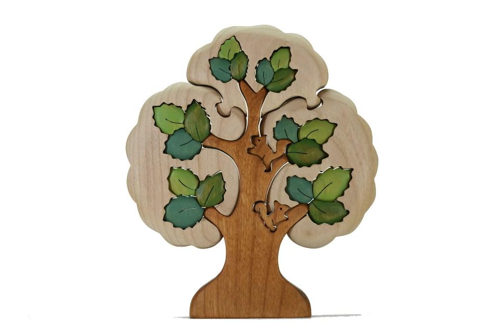 【ふるさと納税】木工パズル カラーツリー