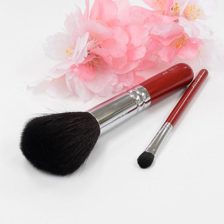 ふるさと納税 正規品 薄紅桜メイクブラシセット パウダーブラシ アイシャドーブラシ 注文後の変更キャンセル返品