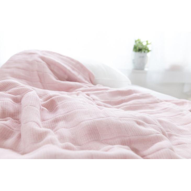 【ふるさと納税】コーマ糸を使った綿100%4重ガーゼケット ピンク